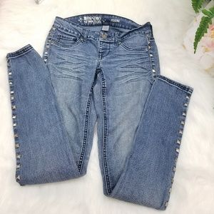 MOSSIMO SUPPLY CO JEAN JEGGING DECORATING SYLVER 3